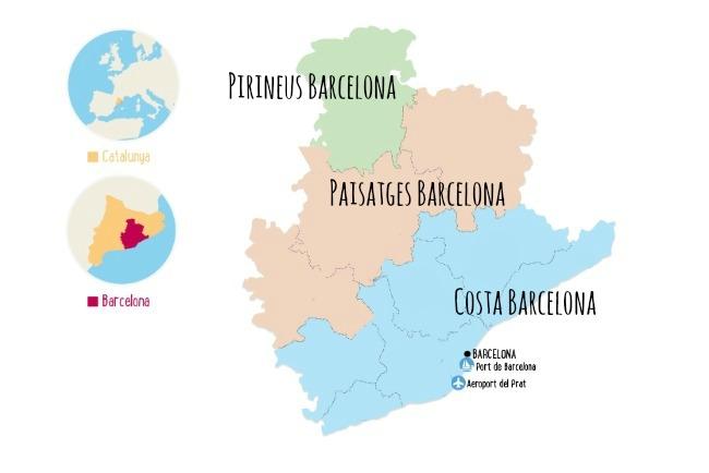 Mapa Barcelona Area ENGLISH