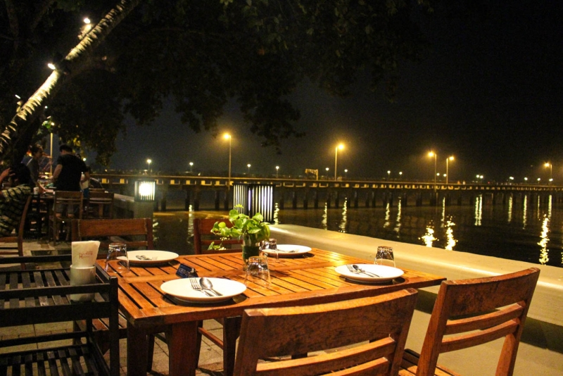 Seafood with a view at Kan Eang​@Pier restaurant.