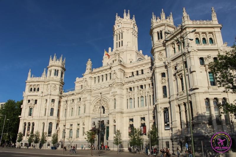 Palácio de Cibeles em Madri.
