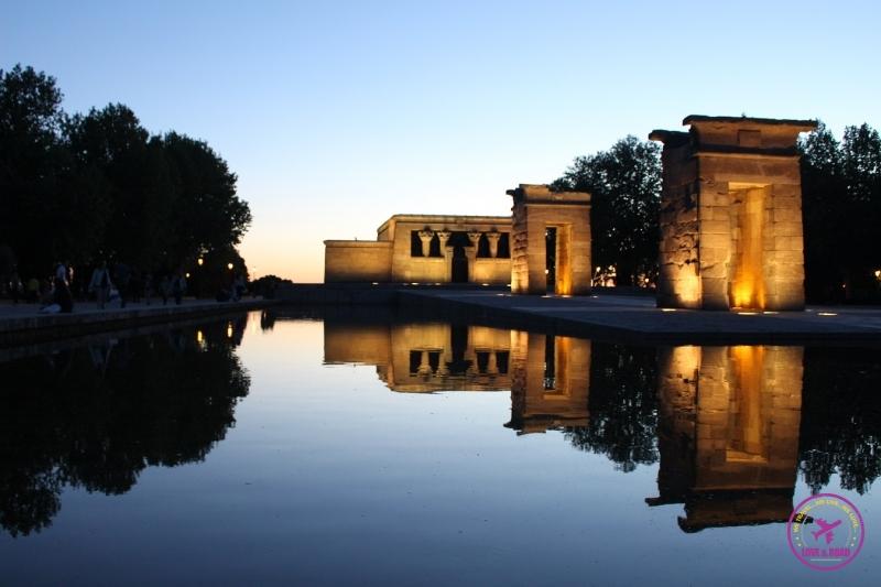 Templo de Debod, em Madri.