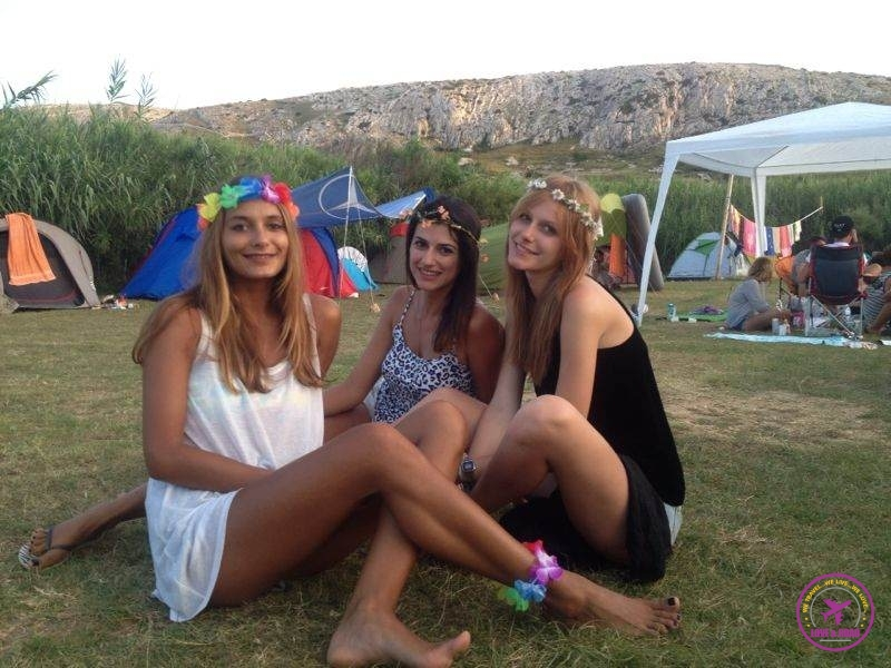 Our ladies at the camping site!