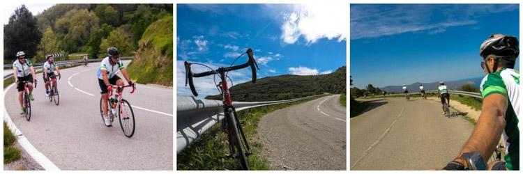 pessoas praticando esporte pedalando na Catalunya