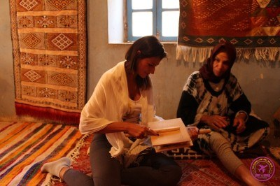 Nat-training-her-wooling-skills-in-Morocco.