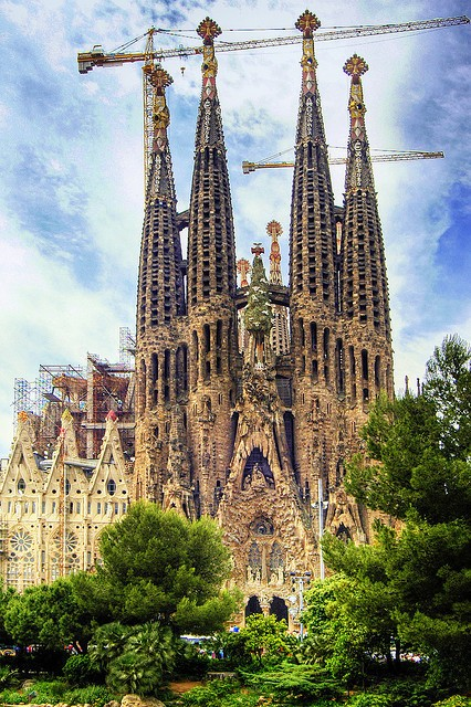 The Expiatory Temple of La Sagrada Familia is one of the best known examples of Catalan Modernisme and a symbol of the city of Barcelona.