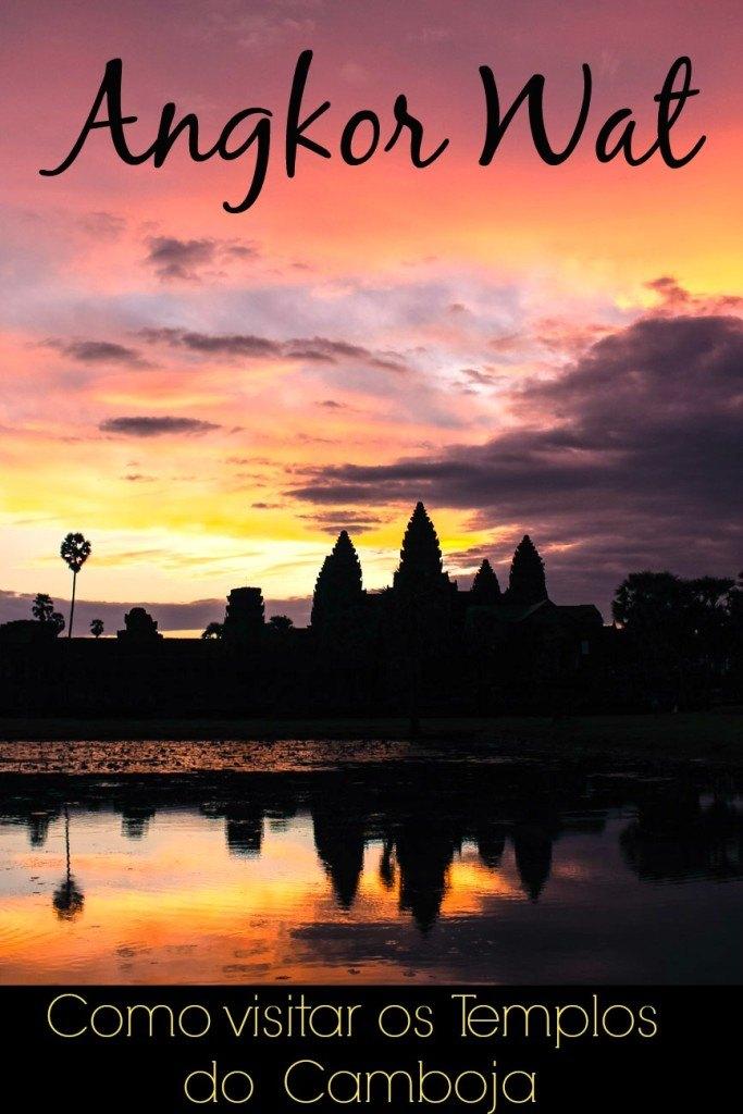 Nascer do sol em Angkor Wat! Nosso guia de viagem para Angkor Wat: como chegar, melhores hotéis em Siem Reap, e como visitar os tempos do Camboja.