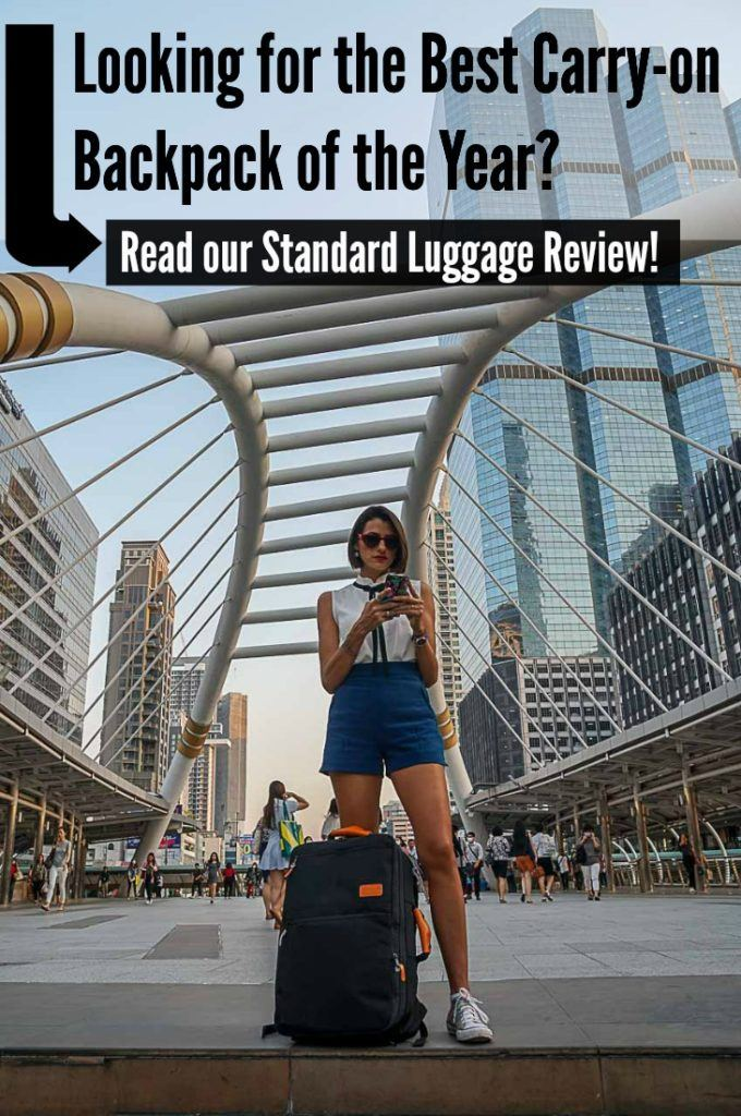 Are you looking for new carry-on luggage? So read our Standard Luggage review! We have been traveling with this 3 in 1 carry-on backpack for the past 3 years and we love it. Check all the new features and why we believe this is the best carry-on bag of the year. #Carryonbag #carryonluggage #Carryonluggage