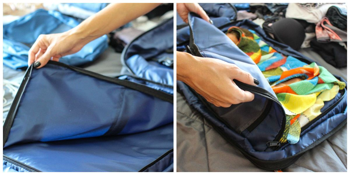 The best carry-on luggage has a dedicated pocket to dresses, jackets or shirts. It's a big and flat pocket where you can carry your fancy clothes without getting wrinkle.