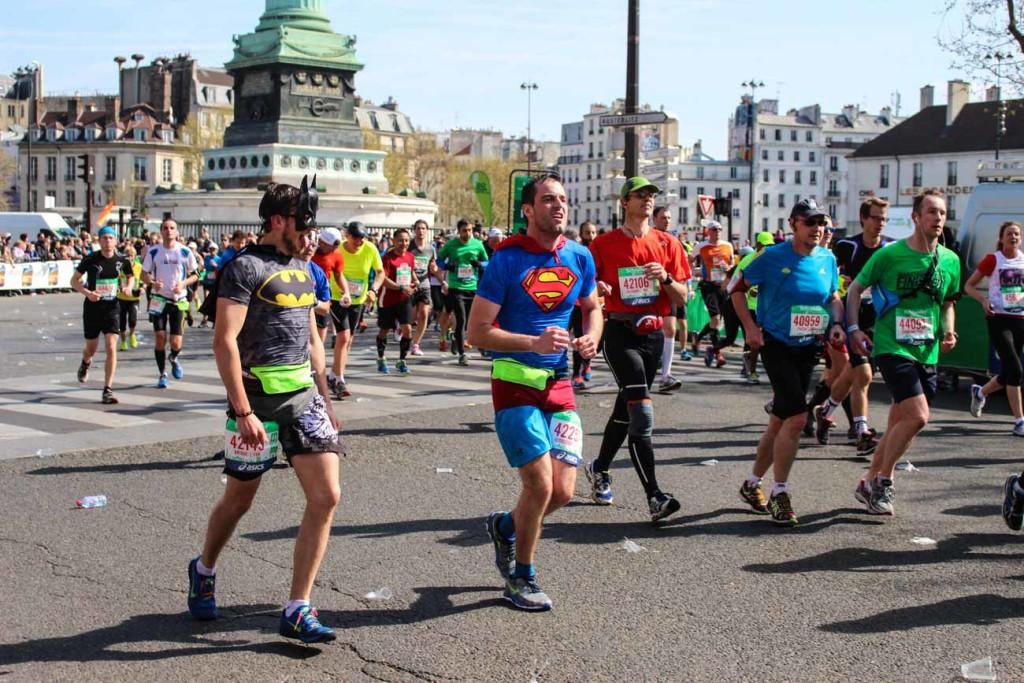 Paris Marathon Review: Even Batman and Super Man were in the race!