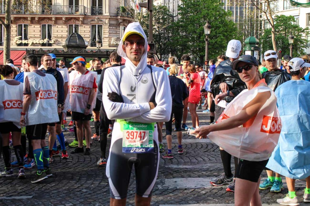 Paris Marathon Review Weather: It was supposed to be spring time, but it was only 8ºC!