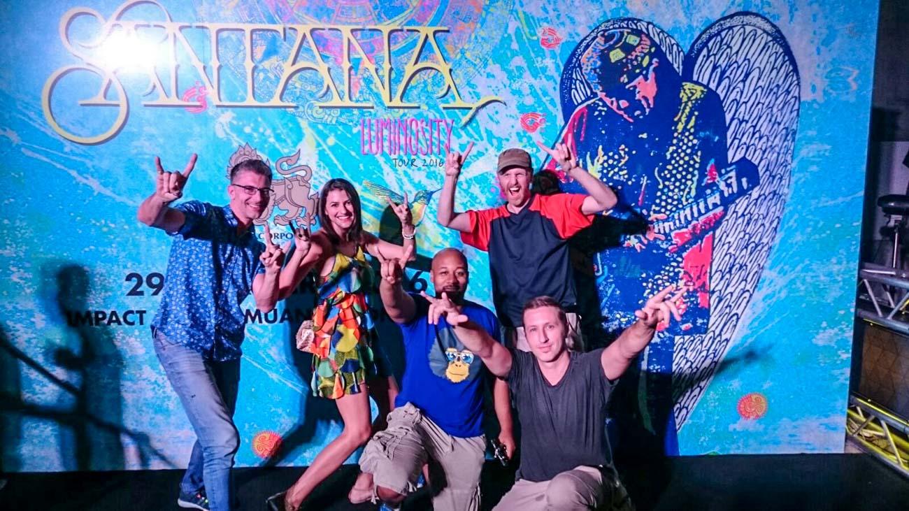 Singha Vip Experience team after Carlos Santana concert in Thailand.