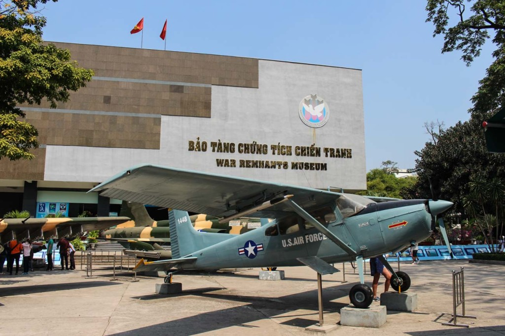 The War Remnants Museum, one of the top things to see in Ho Chi Minh City, Vietnam.