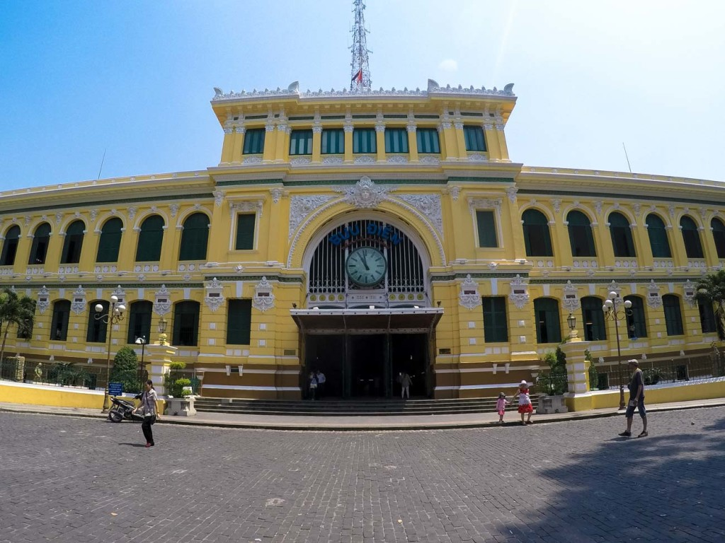 The Central Post Office is one of Ho Chi Minh City tourist spots and it's beautifully restored.