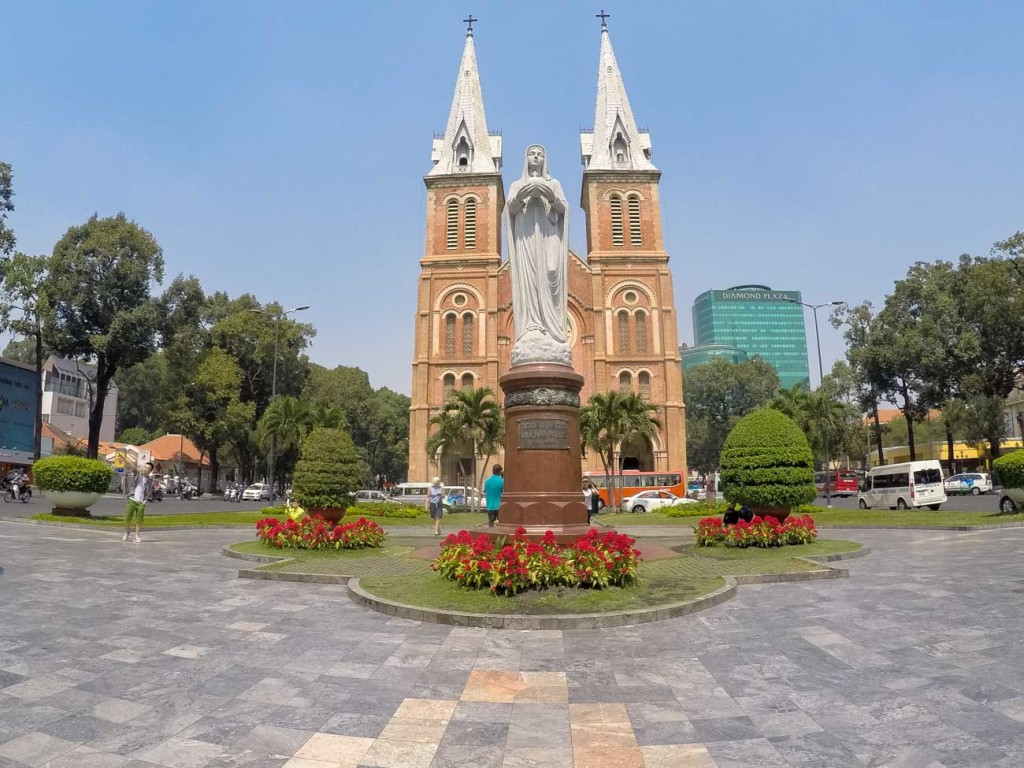 Notre Dame Cathedral is in the heart of Saigon, and it's one of the main religious places to see in Ho Chi Minh City.
