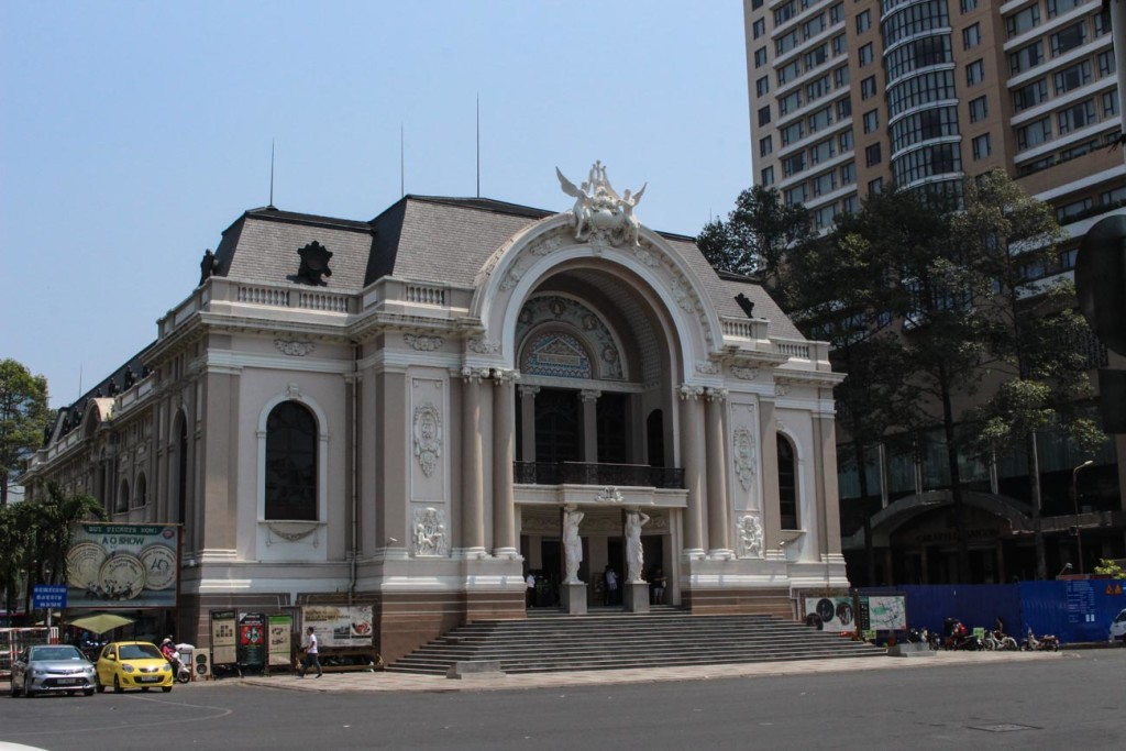 One of the places to see in Ho Chi Minh City is the Opera House, which building is a great example of French architecture.