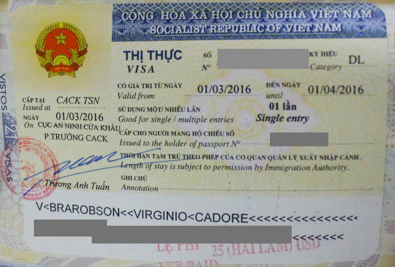 How To Get Your Vietnam Tourist Visa A Guide For Vietnam Visa On Arrival Love Road