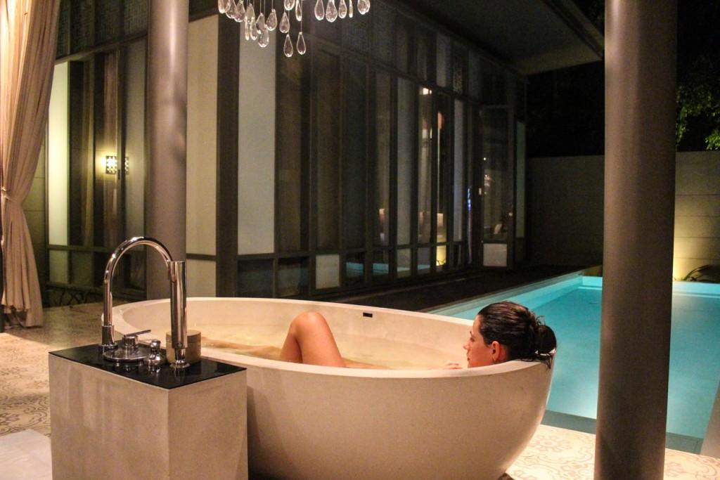 No paraíso o luxo tão bem é permitido! Em várias ilha da Tailândaai você encontra hotéis com 4, 5 e até 6 estrelas! Adoro!