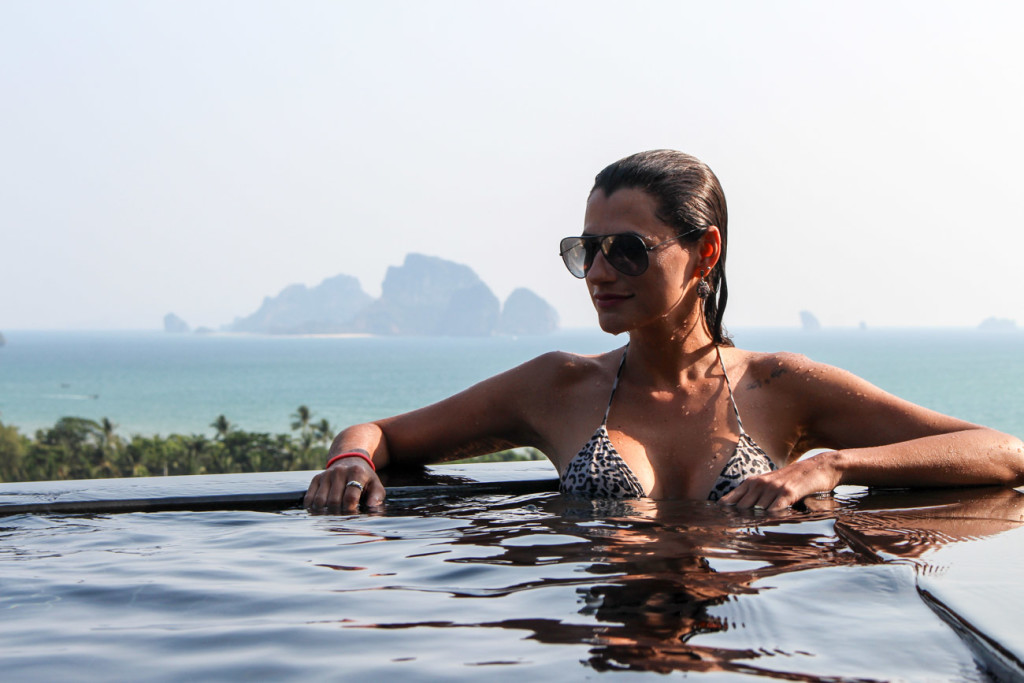 During your Thailand honeymoon you can have the best view from Aonang Cliff Beach Resort infinity pool.