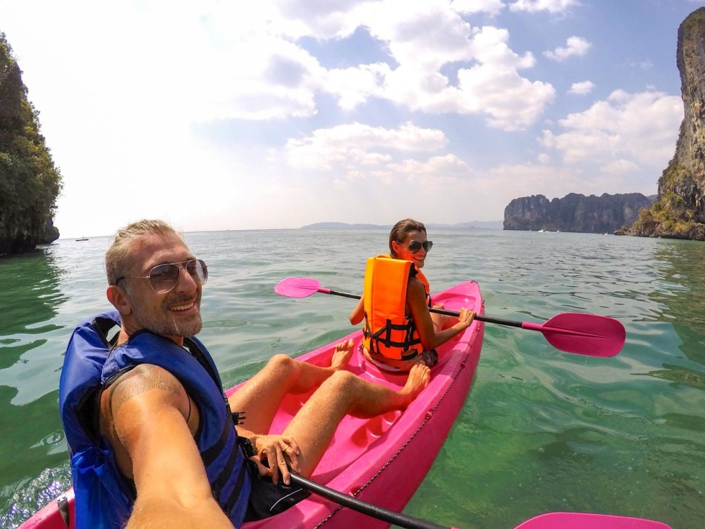 Your Thailand Honeymoon can include some water sports like kayaking in Aonang!
