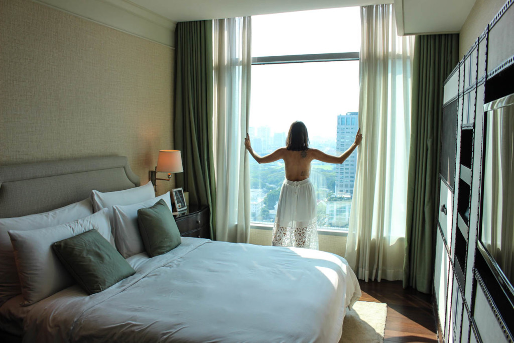 Our Thailand Honeymoon at the Oriental Residence Bangkok! What a view!
