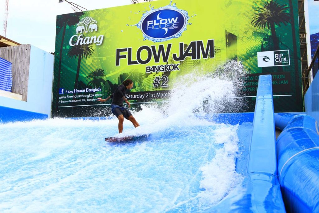 I'm sure you never thought about this, but one of the most exciting and cool things to do in Bangkok is to surf a static wave in the middle of the town!