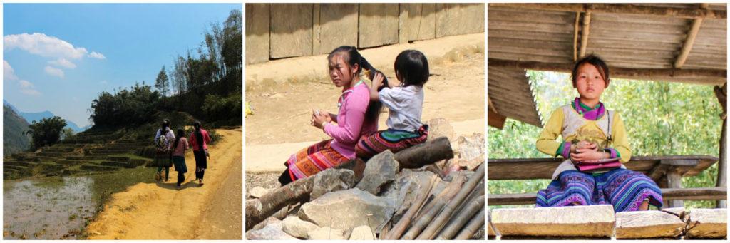 Caminhando pelas montanhas de Sapa, Vietnã, você vai entrar em contato com várias tribos das montanhas.