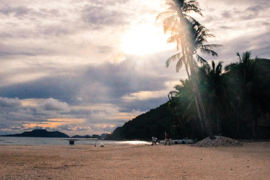 Even on a cloudy day Pangulasian Island is stunning. Sunset by the resort beach.