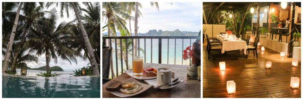 Eco-Luxury details of El Nido Resorts in Pangulasian Island. The perfect place to stay in Palawan.