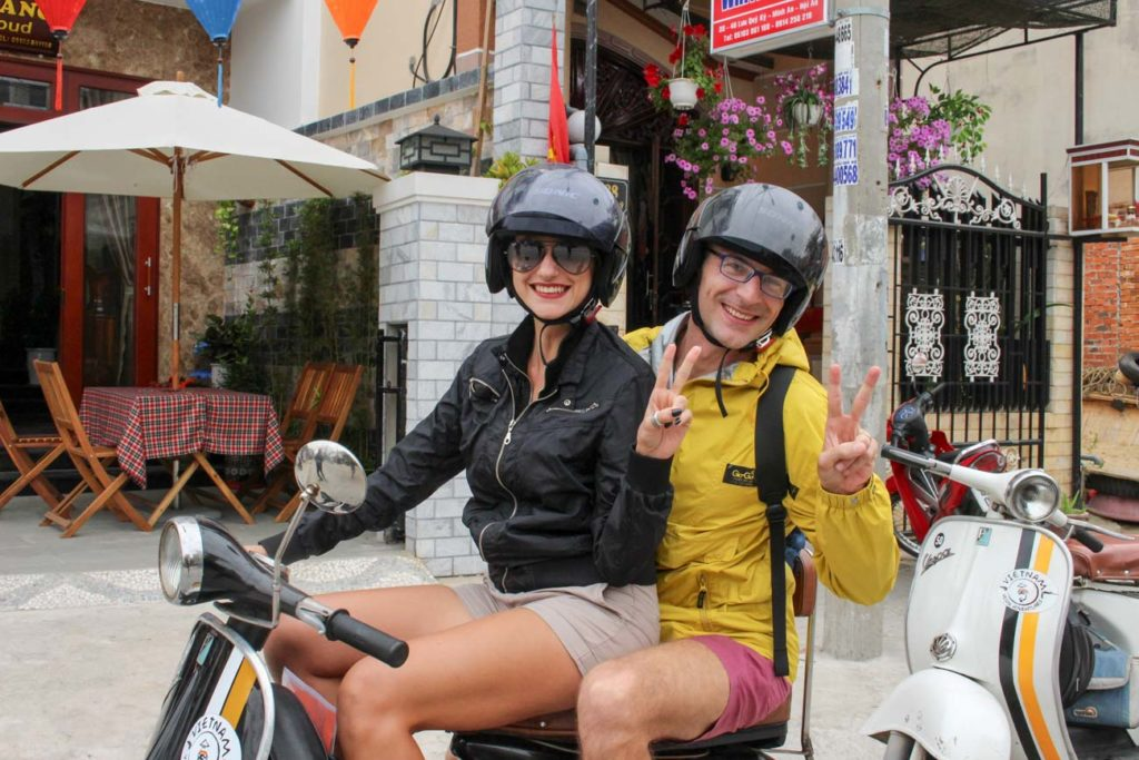 Discover Hoi An in a unique way! We did the Hoi An Vespa Tour through the countryside and love it. Plus travel tips and where to stay in Hoi An, Vietnam. Discover Hoi An in a unique way! Go on a Vespa Tour through the countryside and witness the local life. Plus travel tips, the best attractions and where to stay in Hoi An, Vietnam.