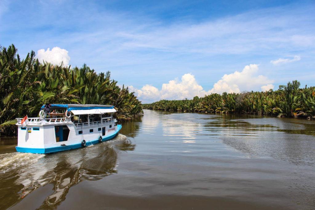 Cruising the Tanjung Puting National Park in a klotok boat! Heading to The Orangutan Camp in Borneo Indonesia