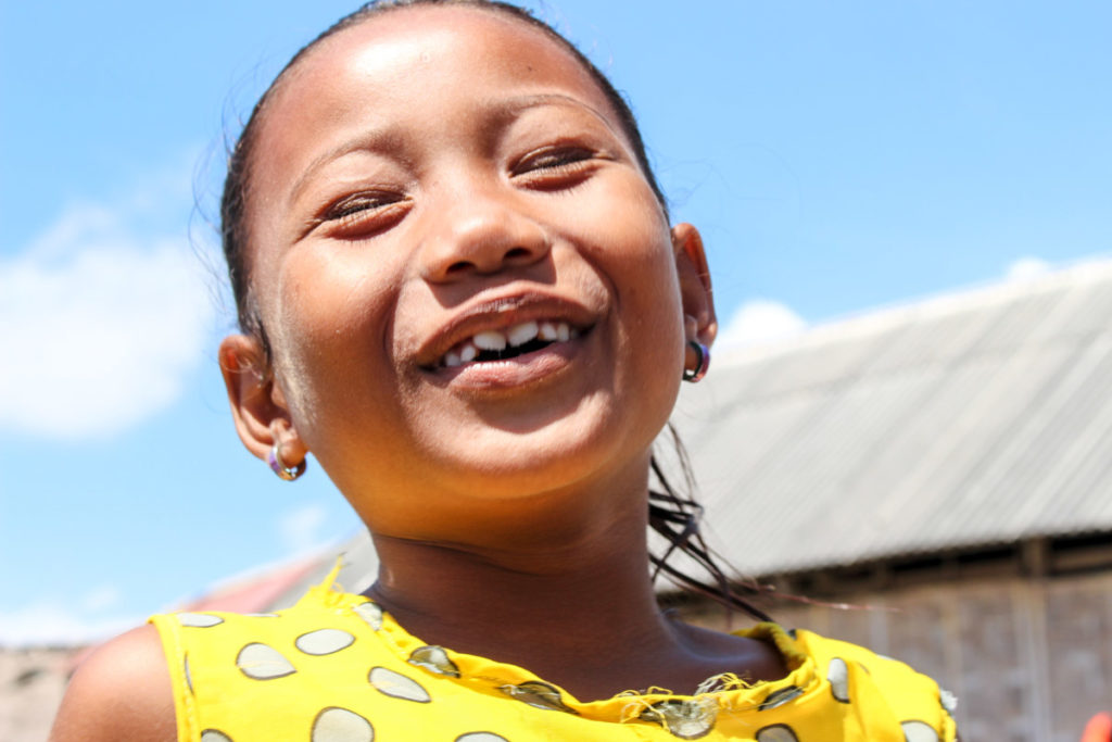 Learning with the kids from the Bajo Tribe to be happier and smile more.