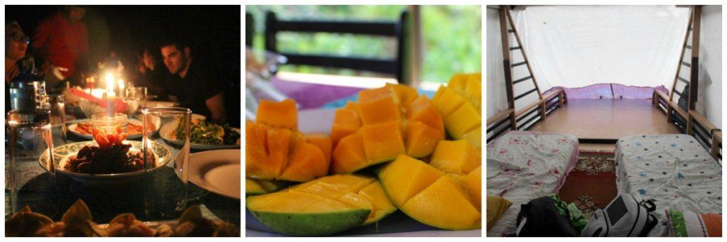 A comida é deliciosa, mas a acomodação durante a viagem ao Parque Tanjung Puting é simples.