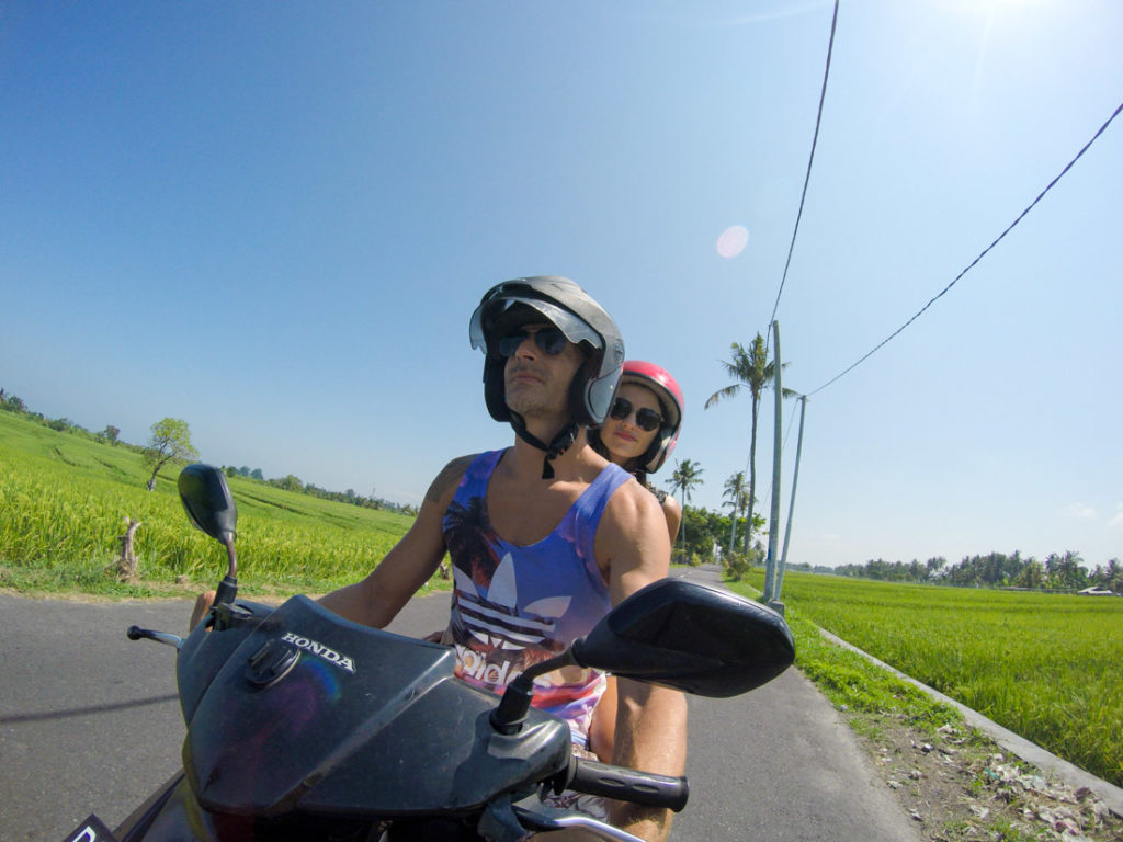 Rent a motorbike is the easiest way to get around the island and check all the things to do in Bali, Indonesia