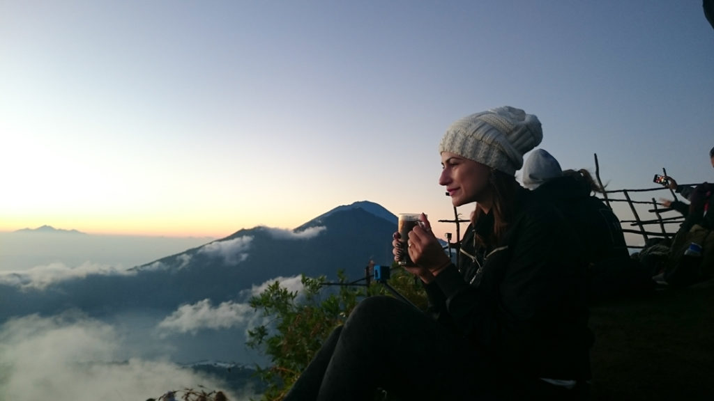 After the long trekking you will be reward with stunning sunrise and Bali coffee, the best things to do in Bali are the simple ones.