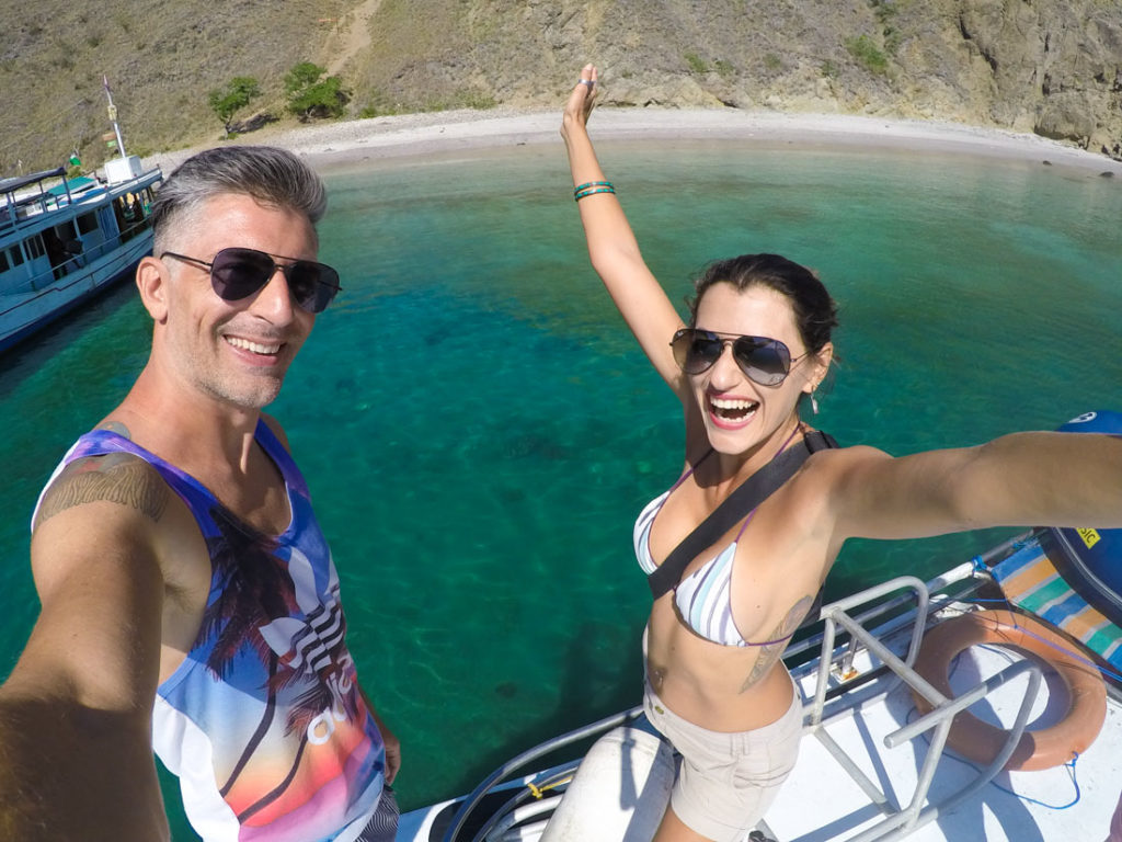 Having fun on our trip to Komodo island