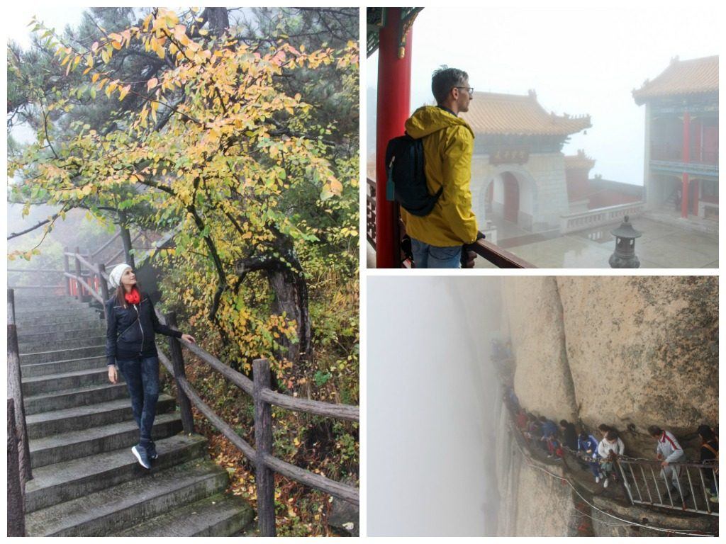 Despite the cloudy and col weather, hiking the Mount Huashan was amazing, one of my favorite things to do in Xi'an, China.