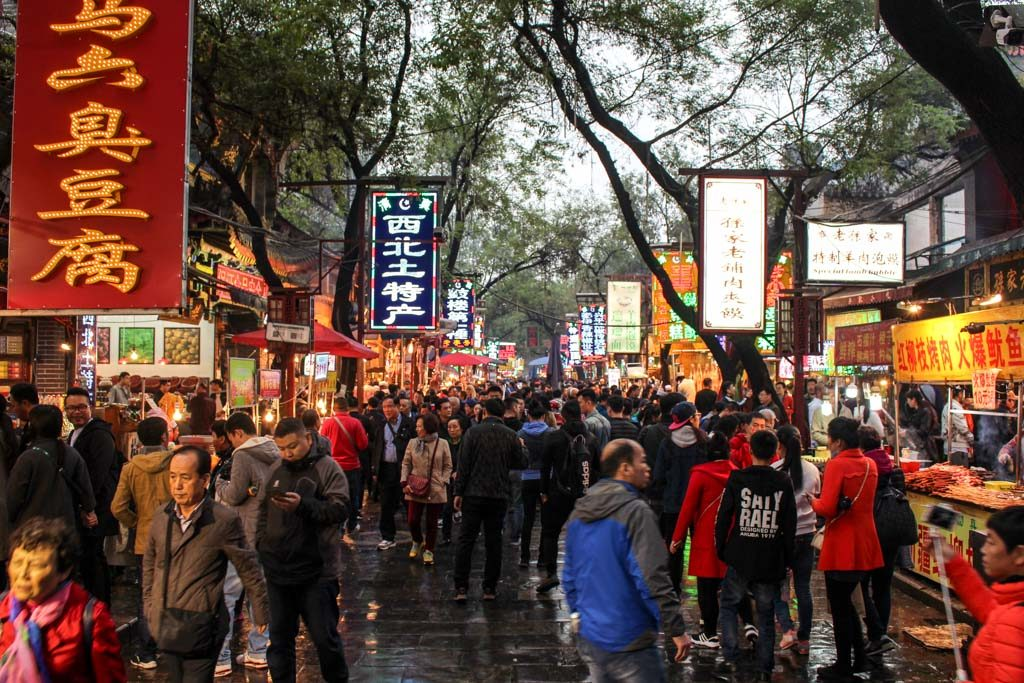 Food! The best place for street food is the Muslim Street! You travel itinerary to Xi'an must have a visit to the Muslin Quarter, it's a must thing to do in Xi'an.