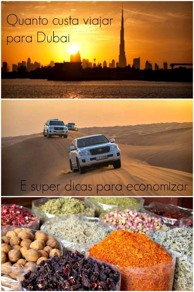 Quanto custa viajar para Dubai? Dicas para viajar para Dubai com um orçamento apertado ou esbajando luxuoso. Dicas para planejar a viagem e economizar.