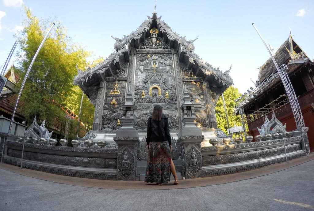 Silver Temple, a unique attraction on our list of what to do in Chiang Mai.