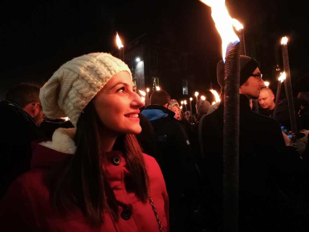 The Torchlight Procession is one of the best things to do during Edinburgh Hogmanay. It's a unique experience.