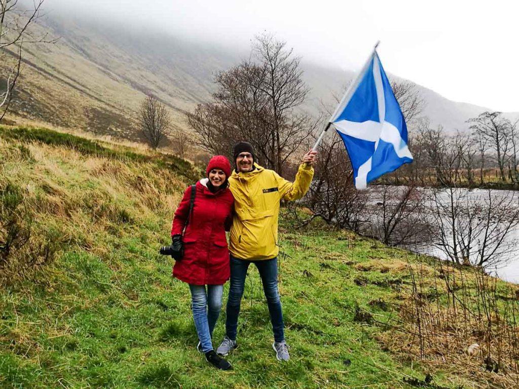 Além de comemorar o ano novo em Edimburgo, a Haggis Adventure nos levou para conhecer as Montanhas da Escócia!
