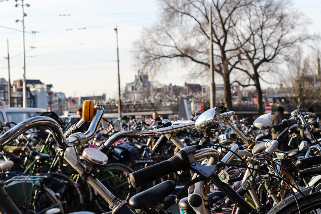 I see biked everywhere! The best way to get around is to have the city card for 3 days in Amsterdam.