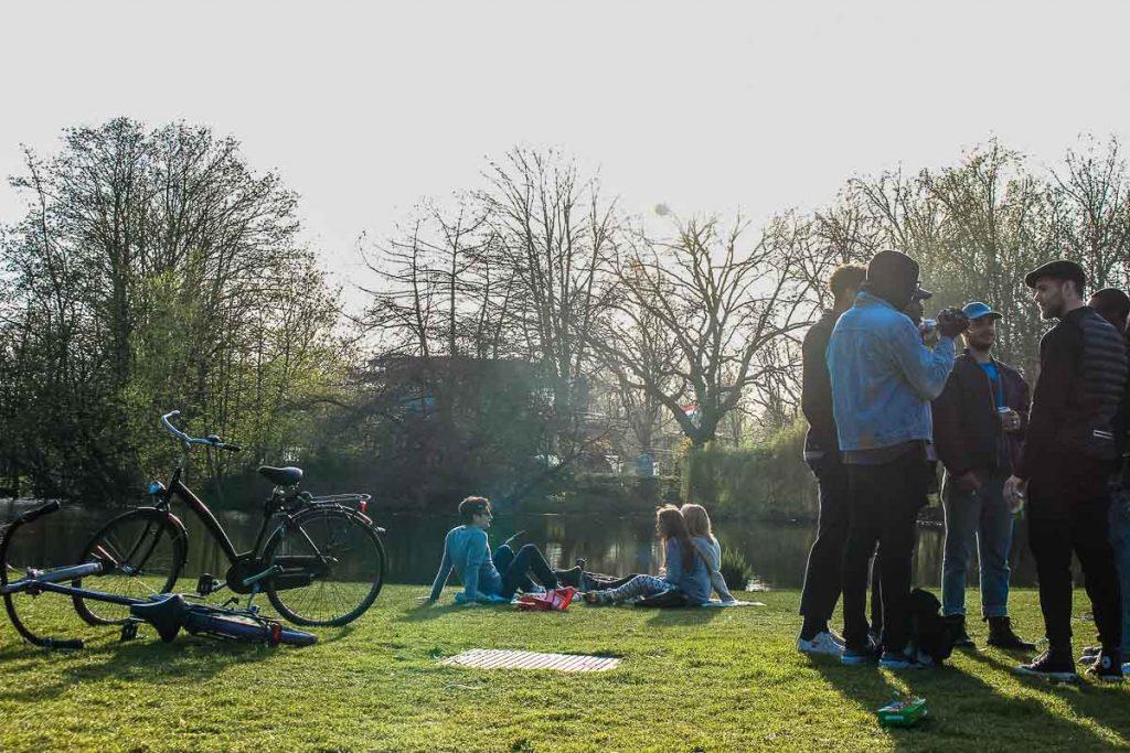 Stroll around Vondelpark is super nice during summer and winter. It's the green tourist spot is Amsterdam.