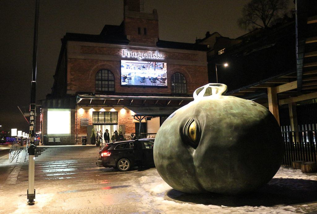 My suggestion of what to do in Stockholm at night time is to visit the Fotografiska Museum.