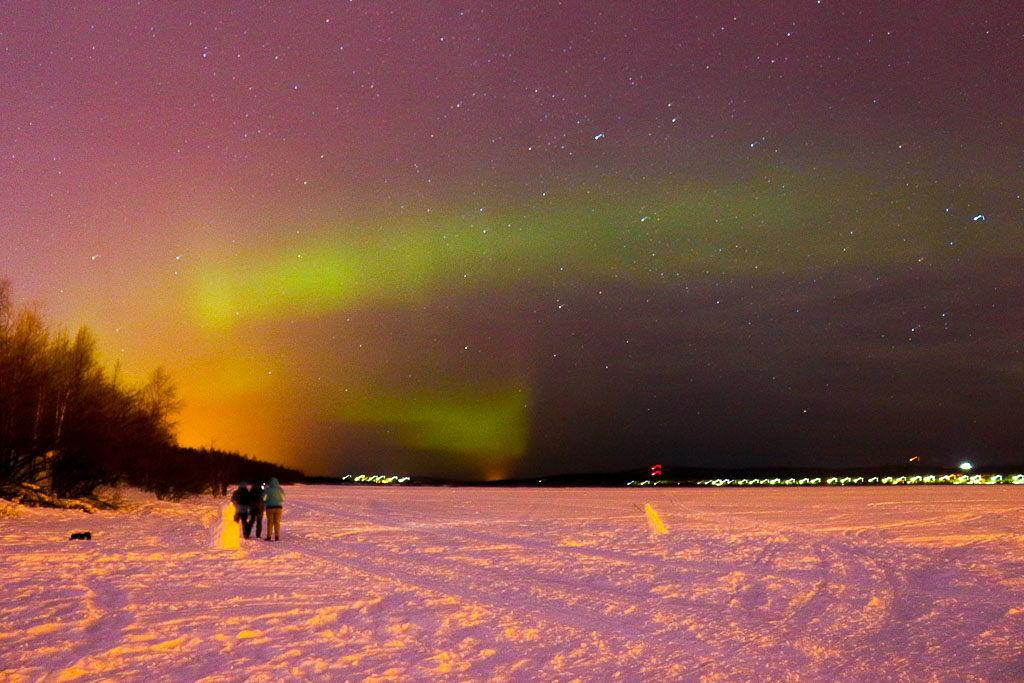 There are many places to see the aurora borealis in Rovaniemi, if the weather is good you can see it from the city.