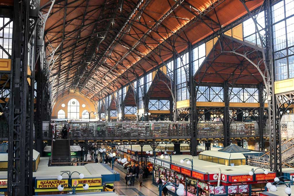 Photo of the Great Market in Budapest. One of the main attractions in the city that you should add to your 2-week Europe itinerary.
