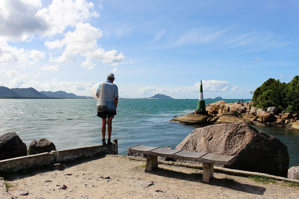 At the Barra da Lagoa you can witness the fishermen in action. This is a lovely place to visit in Florianópolis, Brazil.