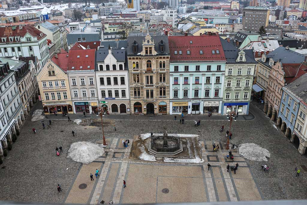 The view you have from the Liberec Town Hall Tower is beautiful, you can see the city and the Ještěd Mountain.