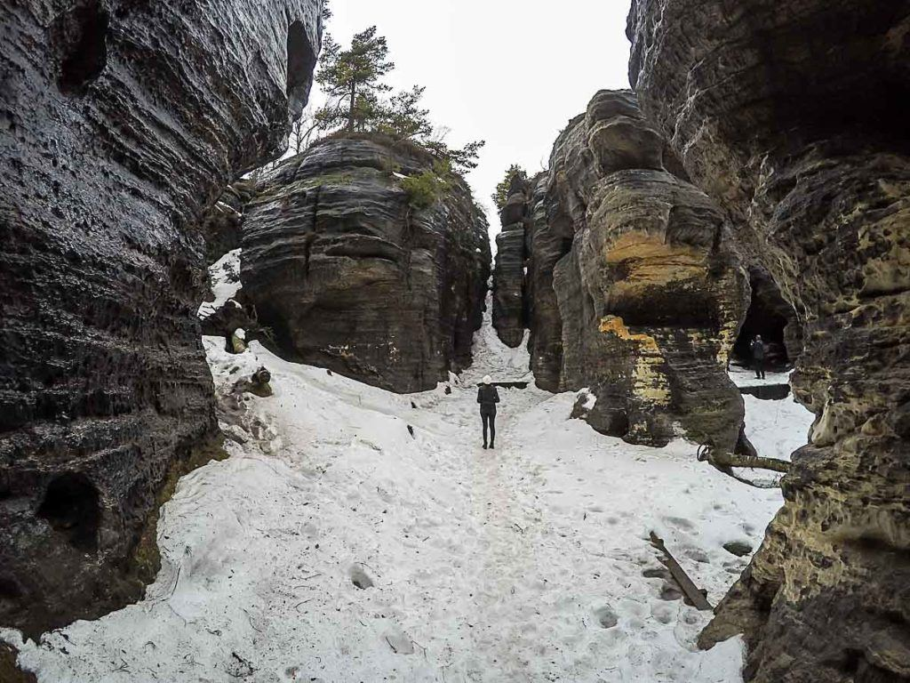 The Tisá Rock Labyrinth is another place to visit in Bohemian Switzerland National Park.