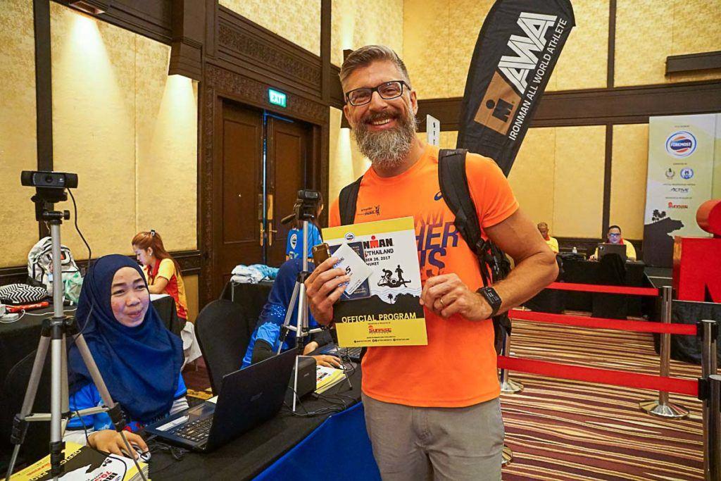 No Ironman da Tailândia o check in to atleta foi super rápido e bem organizado.
