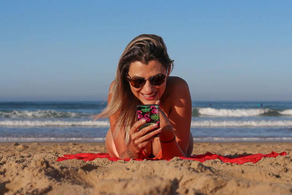 The best part is you can have a portable wifi for travel and get unlimited internet connection in Europe, even at the beach.